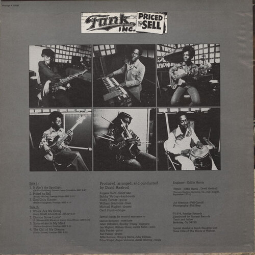 "Funk Inc. : Album "" Priced To Sell "" Prestige Records P 10087 [ US ]"