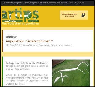 Artips - Le cheval d'Uffington
