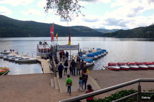 Forêt Noire (Allemagne) : lac Titisee...