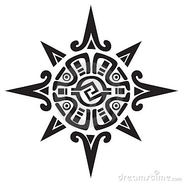 symbole-maya-ou-inca-d-un-soleil-ou-d-une-étoile-18353846