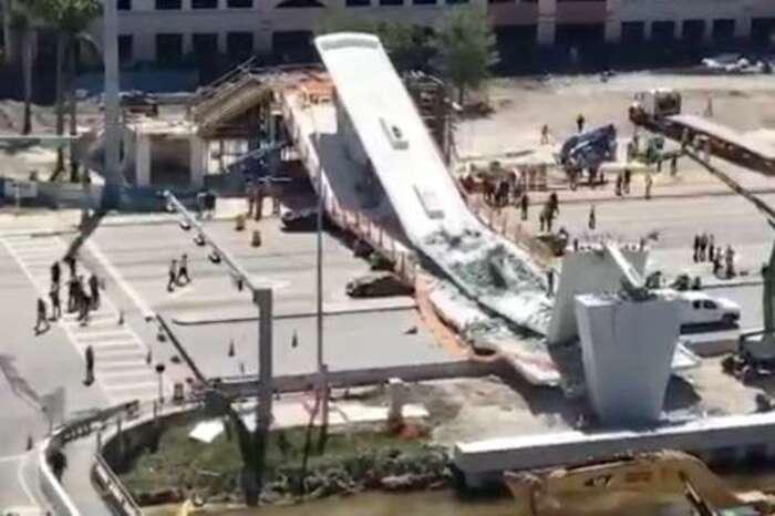 Un pont piétonnier tout neuf s'effondre à Miami