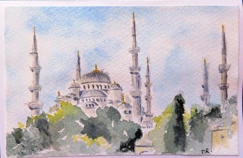 Turquie, aquarelle