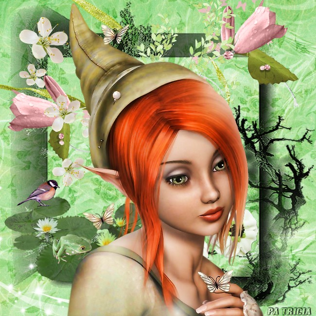 bonne semaine  avec l'elfe aux papillons