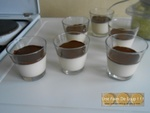 Panna cotta au sirop d'érable et sa coque en chocolat