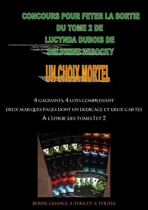 Concours spécial Marque page de Lucinda Dubois