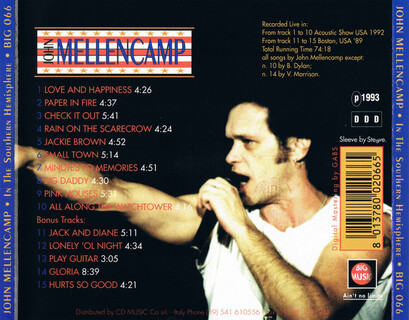 Live: John Mellencamp - In the southern Hemisphere