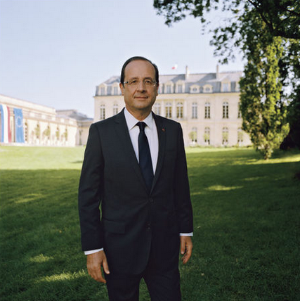 Photo officielle d'Hollande: Raymond nous demande Depardon…