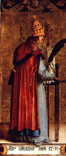 Saint Corneille. Pape (21 ème) de 251 à 253 et martyr († 253)