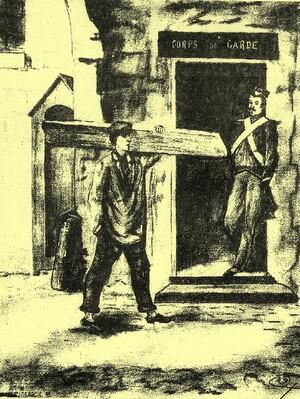 Napoléon III, prisonnier au fort de Ham.