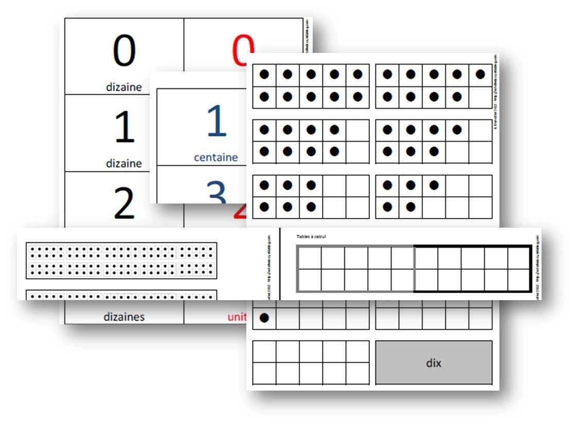 Célèbre Numération - Outils à imprimer - Cartes à points - Les docs d'Estelle TW85