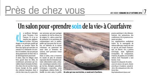 Salon bien-être Courfaivre 2016 - Medias