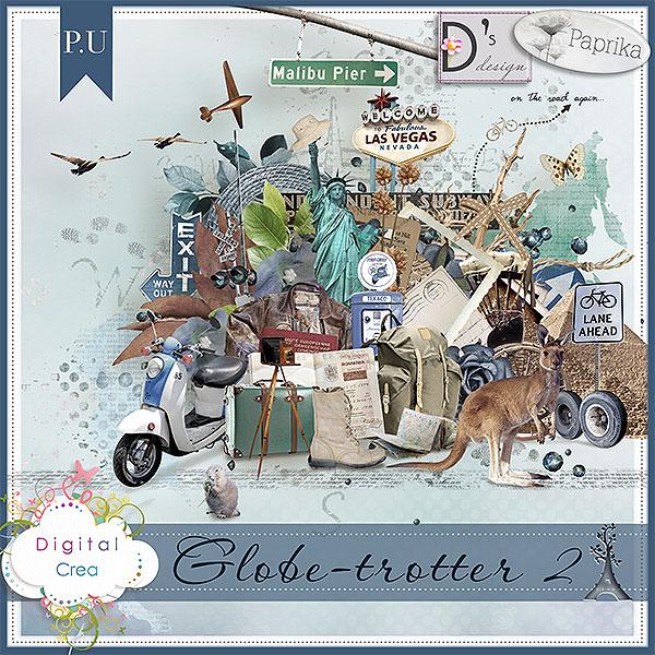 """Globe Trotter 2""et ""Globe Trotter 3"" by Paprika et Doudou's D"