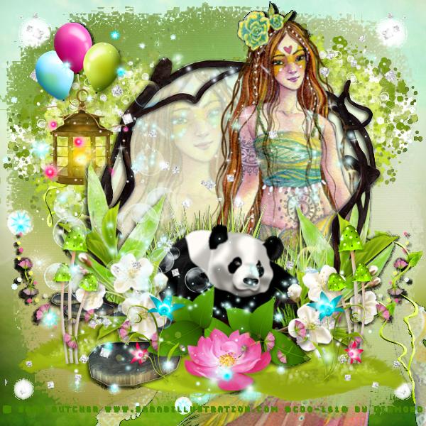 """Tutoriel """"Bambou spring"""" de Jewel chez Delire2scrap"""