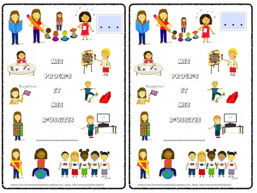 Pages de garde supports écrits des élèves (tous cycles)