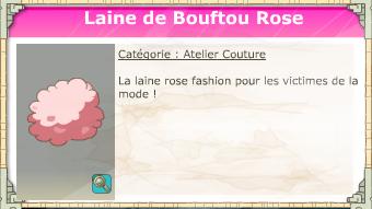 laine de bouf rose