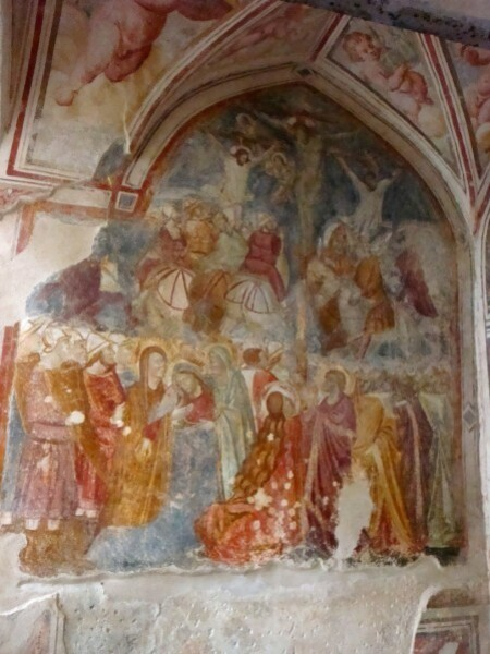 Amalfi fresque de la crucifixion (XIVe)