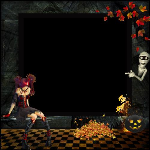 cadre gothique halloween