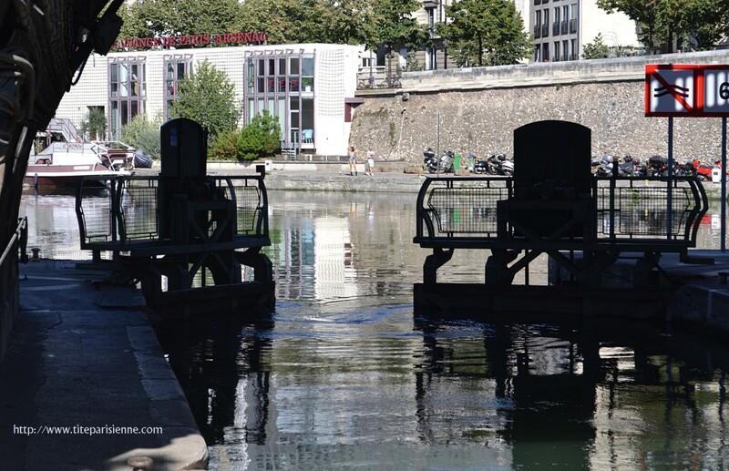 Canal Saint-Martin : L'écluse N° 9 ou l'écluse l'Arsenal
