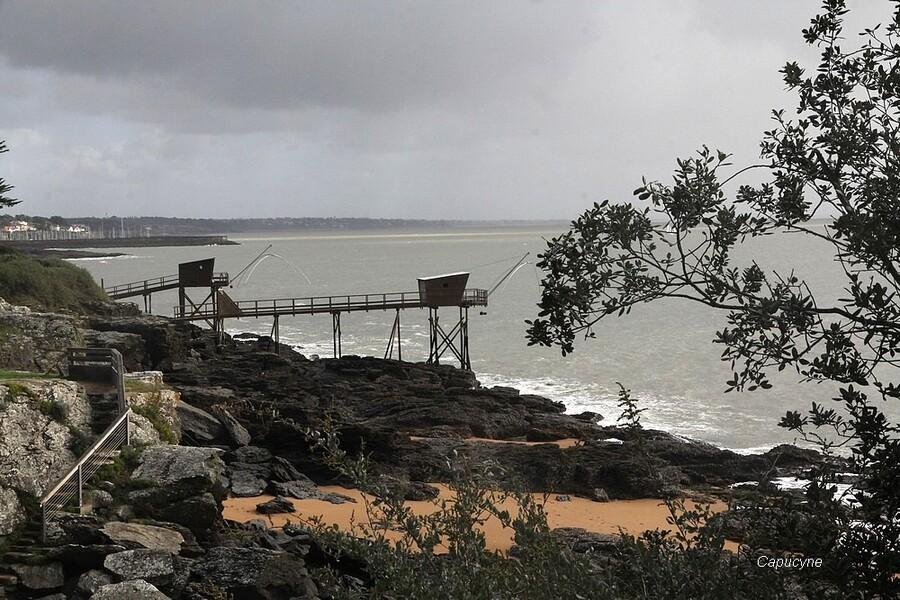 Sur la côte, entre Sainte-Marie et Préfailles...
