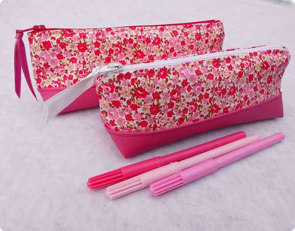 "Trousses scolaires ""Girly liberty roses"""