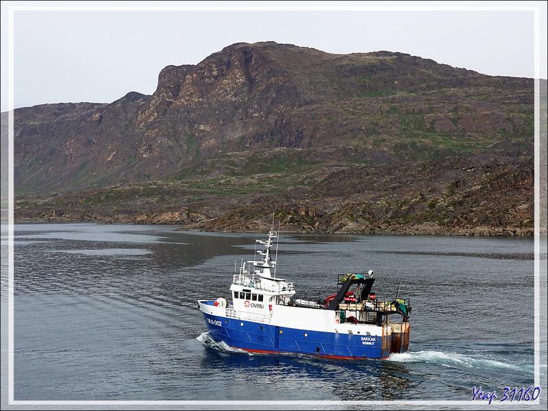 L'appareillage approche, dernier coup d'œil sur le port et la rade - Sisimiut - Groenland