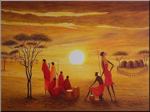 Tubes afrique anlilou - Dessin paysage africain ...