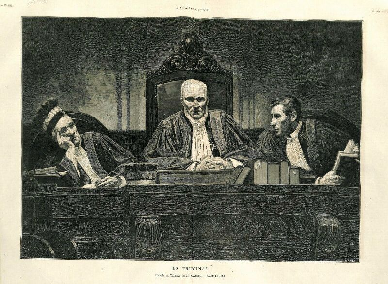 Le tribunal d'après un tableau de P. Salzedo. 1880