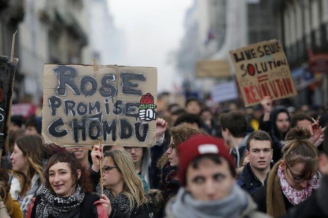 Forte mobilisation en France contre la loi Travail