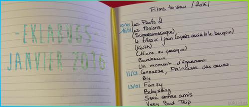 Eklabugs - Janvier 2016 | Ma longue liste