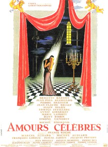 AMOURS CELEBRES BOX OFFICE  FRANCE 1961