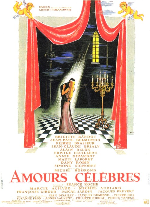 AMOURS CELEBRES -  ALAIN DELON BOX OFFICE 1961