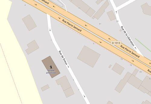 Évreux - Rue de Dreux (openstreetmap.org)