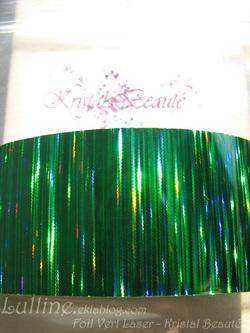 Foil Vert Laser Kristal Beauté