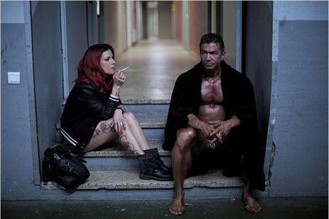 """Bodybuilder"", film de Roschdy Zem, ici avec Marina Foïs et Yolin François Gauvin, en salles le 1er octobre 2014."