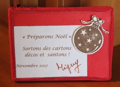 """ATC """"Préparons Noël"""""""