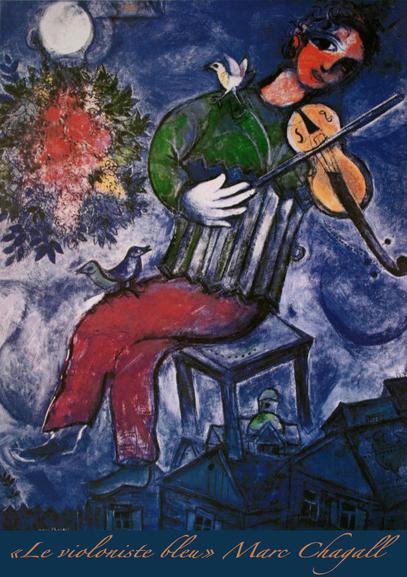 Le violoniste bleu...