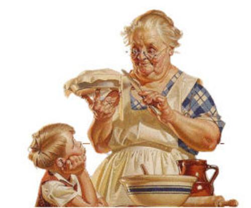 Le tablier de grand-mère.