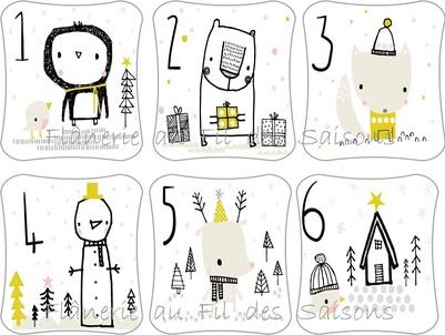 Cartonnettes Calendrier de l'Avent (1) !