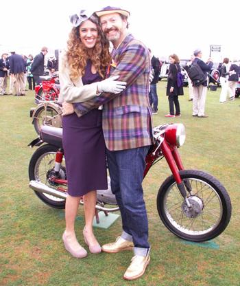 Paul d'O. gravure de mode mais vrai motocycliste