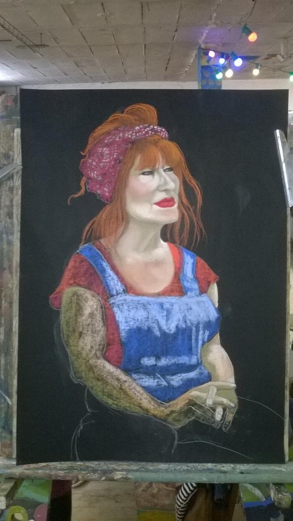 Dimanche - En cours...Portrait d'une artiste