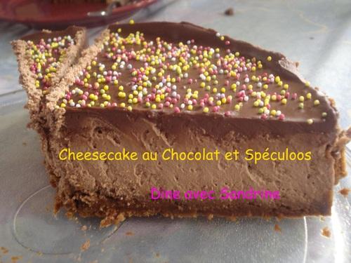 Un Cheesecake au Chocolat et Spéculoos
