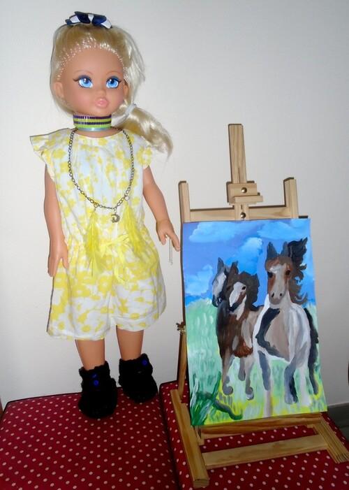 Cathy s'est mise à la peinture