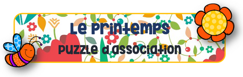 Le printemps : Puzzle d´association