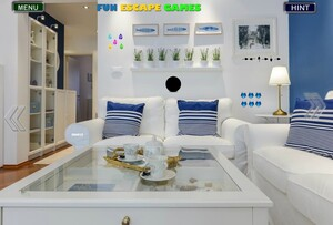 Jouer à Light blue living room escape