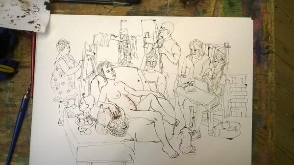 Vendredi - Images d'expo : les scènes d'atelier (2)