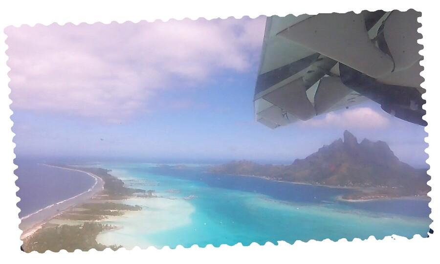 Les îles sous le vent vues du ciel