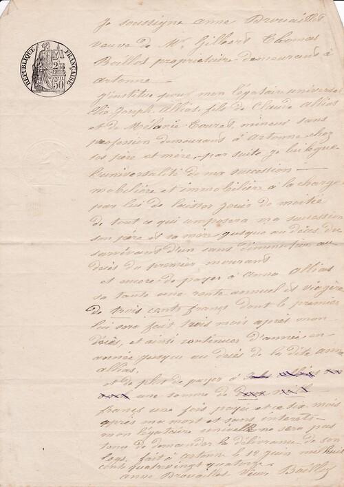 Testament 12/06/1894