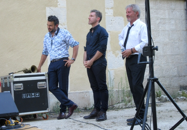 Nicolas Fourgeux et son 4TET a conquis les amateurs de swing  au jardin de la Mairie à Châtillon sur Seine