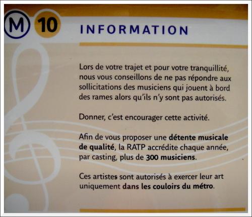 Stop à la musique dans les métros et RER