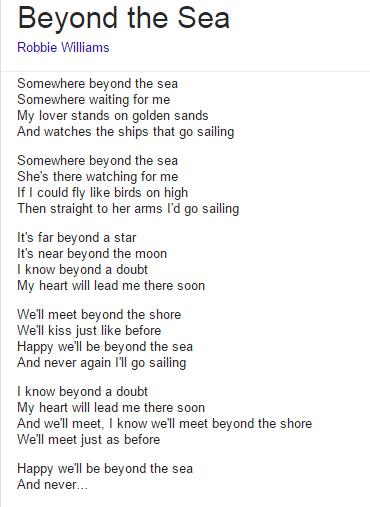 """Beyond the Sea (Reprise de """"La Mer"""" de Charles Trénet) en 2 versions"""